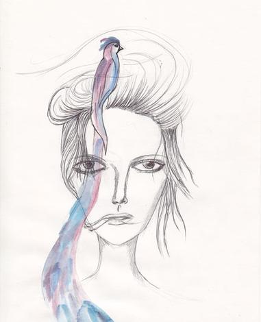 Bird head couture